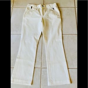 Ralph Lauren Cape Grace Ivory Pants, 8 NWOT
